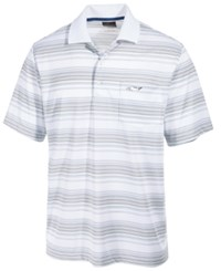 Greg Norman For Tasso Elba Men's Roadmap Performance End On End Stripe Polo Only At Macy's Bright White