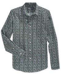 American Rag Men's Printed Long Sleeve Shirt Only At Macy's Cilantro