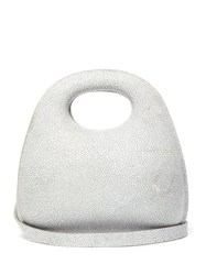 Christophe Lemaire Egg Stingray Effect Leather Bag Grey