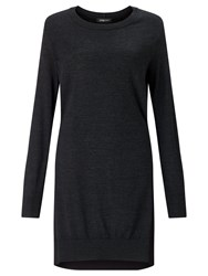 Crea Concept Tie Back Detail Dress Charcoal Grey