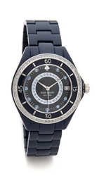 Kate Spade Pave Enamel Seaport Grand Watch Navy