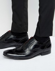 Base London Cane Patent Leather Brogues Black