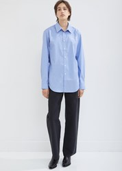 Martine Rose Classic Shirt White Blue Stripe