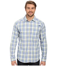 The North Face Long Sleeve Traverse Plaid Shirt Limoges Blue Plaid Prior Season Long Sleeve Button Up