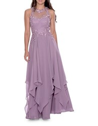 Decode 1.8 Solid Embroidered Sleeveless Gown Dusty Lilac