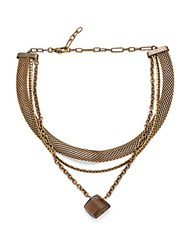 Cynthia Desser Smokey Quartz Three Strand Choker No Color