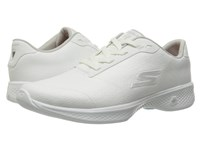 Skechers Go Walk 4 Premier White Silver Women's Shoes