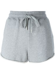 T By Alexander Wang Fleece Track Shorts Grey