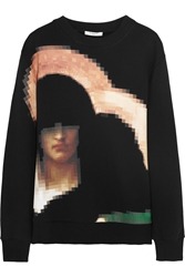 Givenchy Pixel Madonna Printed Cotton Jersey Sweatshirt