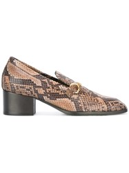 Stella Mccartney Python Effect Loafers Brown