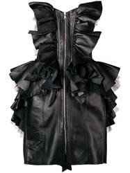 Natasha Zinko Ruffled Corset Dress Black