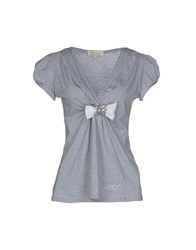 Anna Rachele Jeans Collection T Shirts Grey