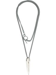Lost And Found Ria Dunn Ria Dunn X Lee Brennan Necklace Grey