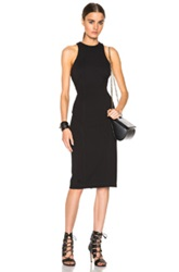 T By Alexander Wang Double Knit Ponte Sleeveless Dress In Black