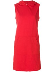 Telfar Hooded Sleeveless Dress Red