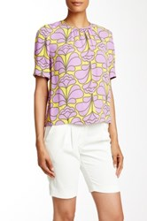 Orla Kiely Damask Flower Blouse Purple