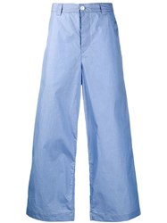 Sunnei Wide Leg Trousers Blue