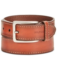 Tommy Hilfiger Men's Leather Casual Belt Tan