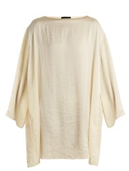 The Row Tharpe Charmeuse Tunic Dress Ivory