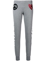 Love Moschino Peace And Track Pants Grey