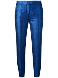 Christian Pellizzari Metallic Tailored Trousers Blue