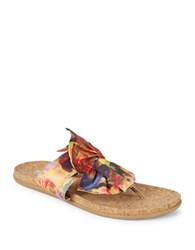Kenneth Cole Reaction Slim Gal Printed Bow Sandals Floral