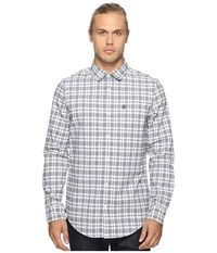 Original Penguin Long Sleeve Jaspe Plaid Oxford Woven Shirt True Black Men's Long Sleeve Button Up