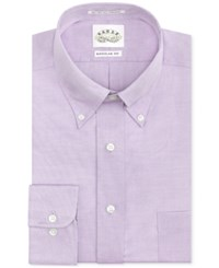 Eagle Men's Classic Fit Non Iron Pinpoint Dress Shirt Amethyst
