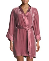 Vivis Dany Velour Short Robe Pink