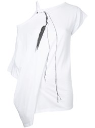 Ann Demeulemeester Cut Out T Shirt Women Cotton 38 White