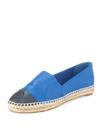 Colorblock Cap Toe Espadrille Jelly Blue Tory Navy Tory Burch