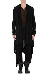 Rick Owens Draped Front Long Cardigan Black