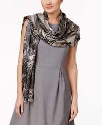 Inc International Concepts Tranquil Scale Jacquard Scarf Only At Macy's Black