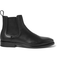 Lanvin Pebble Grain Leather Chelsea Boots Black