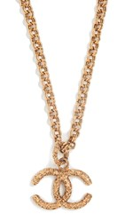 Wgaca What Goes Around Comes Around Chanel Gold Rough Cc Necklace