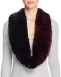 Surell Two Tone Rabbit Fur Infinity Scarf 100 Bloomingdale's Exclusive Burgundy Black
