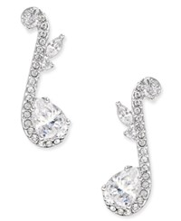 Eliot Danori Silver Tone Crystal Musical Note Drop Earrings Only At Macy's Rhodium