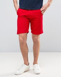 Solid Chino Shorts 0989 Red