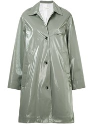 Song For The Mute Wet Look Printed Coat Grey