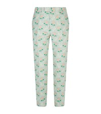 Gucci Floral Jacquard Trousers Male Green