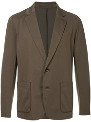 Attachment Single Breasted Blazer Brown