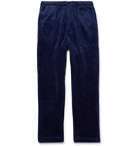 Engineered Garments Tapered Fleece Trousers Blue