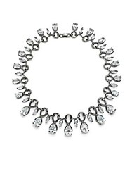 Noir Cubic Zirconia And Crystal Necklace Black