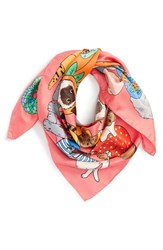 Women's Karen Mabon 'Fancy Dress Cats' Silk Square Scarf
