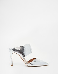 Whistles Tilla Silver Leather Mules