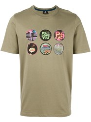 Paul Smith Ps By Badges T Shirt Khaki