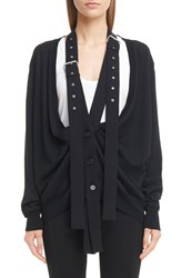 Givenchy Women's Wool And Silk Cardigan With Attached Suspenders
