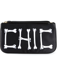Moschino Cheap And Chic 'Chic' Zipped Up Clutch Black