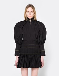 Ellery Skyward Bubble Sleeve Dress Black Yellow
