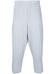 Homme Plisse Issey Miyake Pleated Trousers Men Polyester 3 Grey